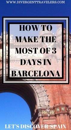 How to make the most of 3 days in Barcelona. Let's discover Barcelona, Spain. It's hard to make the most out of your visit to Barcelona, Spain. It's a European city that is jam packed with lots to do and see. We have put together one of the best travel guides online highlighting how to make the most of 3 days in Barcelona, Spain. This is a must read if you are planning a visit to Spain. Click to read more #Barcelona #Spain #Travel #Guide