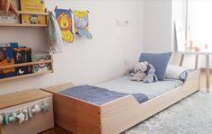 Cama Montessori Natural Kutuva para colchón 160x70cm.  https://www.kutuva.com/productos/cama-montessori/