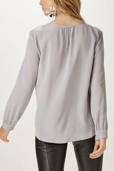 Camisa Seda Decote v Lisa