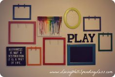 kids artwork display easy DiY projects & a fail-proof tutorial for how to hang a gallery wall} - Living Well Spending Less™ Displaying Kids Artwork, Artwork Display, Display Wall, Artwork Wall, Hang Kids Artwork, Hanging Artwork, Room Ideias, Wal Art, Deco Kids
