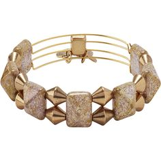 Alex & Ani Impulse Beaded Bangle ($39) ❤ liked on Polyvore featuring jewelry, bracelets, gold, alex and ani bangles, bead jewellery, bracelets & bangles, expandable bangle and hinged bracelet