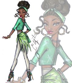 Hayden Williams Fashion Illustrations | Disney Diva Fashionistas by Hayden Williams: Tiana