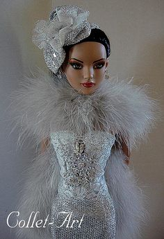 """2013 Tonner 22"""" American Model OOAK Fashion Outfit """"Iced in Style"""" by Collet-Art 