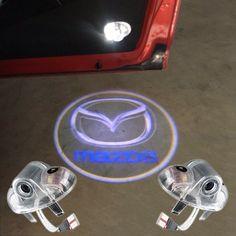 Mazda için Logo Ile 2 adet/grup LED Kapı Uyarı Işığı Projektör Mazda 6 RX 8 için A8