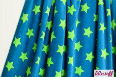 lillestoff » Nicki Stars petrol/grün « // hier erhältlich: http://www.lillestoff.com/nicki-starspetrolgruen-3232.html