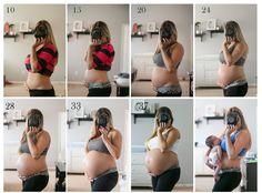 This was my progress till 38 weeks when I had Jaxon!  www.JulianaEvansPhotography.com
