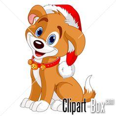 free christmas clip art dogs dog in santa hat clipart clipart rh pinterest com cartoon christmas dog clipart cute christmas dog clipart