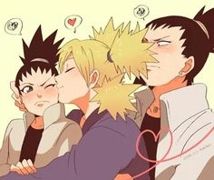 Discovered by Diana Hatake. Find images and videos about anime, naruto and shikamaru on We Heart It - the app to get lost in what you love. Naruto Uzumaki, Anime Naruto, Sasuke Sakura, Gaara, Hinata, Shikamaru E Temari, Art Naruto, Shikadai, Shikatema