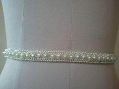 Wedding Belt Bridal Belt Sash Belt Ivory by LucyBridalBoutique, $35.00