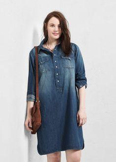 Denim shirt dress