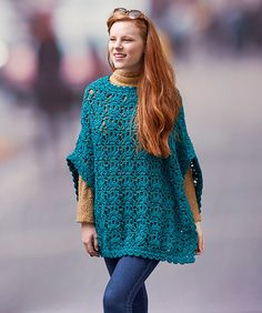 Craft Passions: Let's Party Poncho free #crochet   pattern link he...