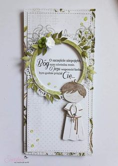 Baby Cards, Cute Cards, Christening, Cardmaking, Card Ideas, Scrapbooking, Frame, Handmade, First Holy Communion