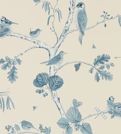 Woodland Chorus Wallpaper by Sanderson | Jane Clayton