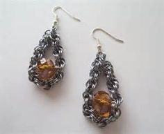 beaded chain maille earrings - Bing Images