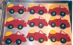 Wiggles Big Red Car cookies By atkin600 on CakeCentral.com