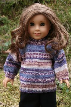 "18"" doll sweater free downloadable pattern"