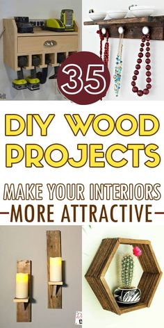 36 Awesome DIY wood projects. Woodworking Skills, Woodworking Projects Diy, Cap Rack, Improve Yourself, Make It Yourself, Bottle Stoppers, Diy Wood Projects, Plant Holders, Free Time