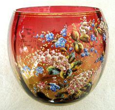 Moser Amberina Art Vase