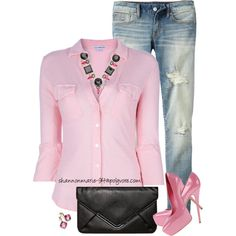 """""""Pink & Black"""" by shannonmarie-94 on Polyvore"""