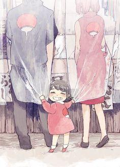 "uchi-saku:  "" 新うちは一家 by ひさまる  Reprinted with Permission | Do not repost! """