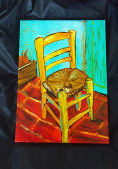 N-) 73   Vincent van gogh - chair study art work_Acrylic/33.4x24.2  #vincentvangogh #chair #빈센트반고흐 #아크릴 #습작