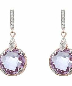 DeLatori Amethyst and White Topaz Earrings - 30-06-P602-29 #accessories  #jewelry  #earrings  https://www.heeyy.com/suggests/delatori-amethyst-and-white-topaz-earrings-30-06-p602-29-rose-gold-amethyst/
