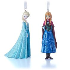 disney elsa and anna christmas decorations set of 2perfect for your christmas tree disney - Elsa Christmas Decoration