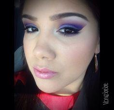Missed my beloved #purple shadows!   Note to self: #mac haux, #mufe #92, #ud dark purple in crease. #katvond purple palette on lid. #stila liquid eyeliner. #anastasiabeverlyhills #brow powder in dark brown, bare minerals lipstick, #Tarte pink blush   #sephoragirl #sephoraaddict #mua #houstonmua #makeup #iloveigmuas #beatthatface #sephora
