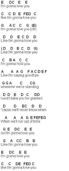Flute Sheet Music: Like I'm Gonna Lose You