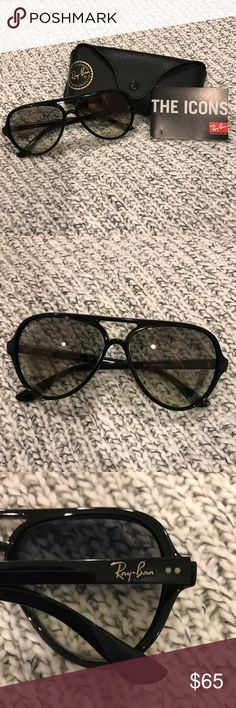 Ray Ban Aviator sunglasses (authentic) Black aviators, case included! Ray-Ban Accessories Sunglasses