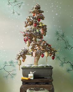 Asian-Inspired Christmas Tree