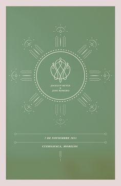 Jose & Joss :: Wedding invitation (back) / Cuernavaca, Mexico