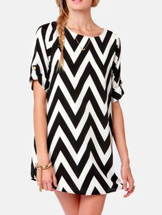 The Moves Like Zagger Dress in Black & White, #Adabelles