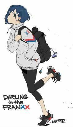 Ichigo (Darling in the FranXX) Image - Zerochan Anime Image Board Kawaii Anime Girl, Anime Art Girl, Anime Guys, Fanarts Anime, Manga Anime, Querida No Franxx, Anim Gif, Darling In The Franxx, Character Design Inspiration
