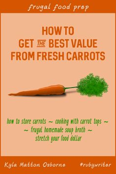 How to Get the Best Value from Fresh Carrots by Kyla Matton Osborne (Ruby3881)   24 Carrot Diet   #rubywriter #24carrotdiet #carrotsoup #freshvegetables #foodstorage #healthyfood #locallygrown