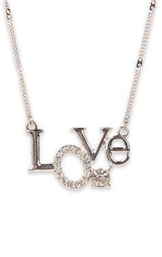 Deb Shops #love #necklace