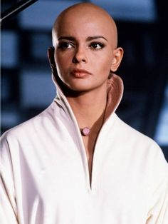 The beautiful Persis Khambatta (October RIP, you have been taken from us way too soon. Shaved Undercut, Star Trek Series, Bald Girl, Bald Women, Close Shave, Shaving Razor, Star Trek Voyager, Bald Heads, Shaved Head