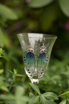 Sidhe Fairy Wing Silver earrings by fairystitchfactory on Etsy