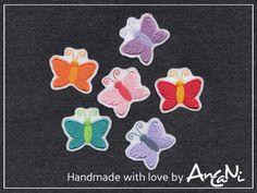 Aufnäher Set Schmetterling ♥ mini Schmetterling von AnCaNi auf DaWanda.com