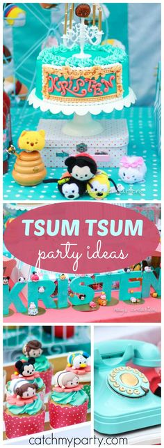 How cute is this Disney Tsum Tsum circus sweet shop party!? See more party ideas at Catchmyparty.com!