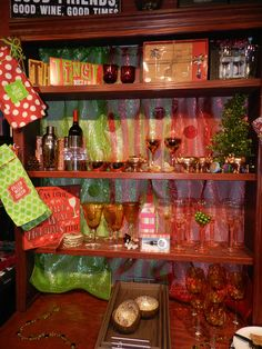 We have red and green AND most other colors in between - ask if you don't see.  Market Alley Wines, Monmouth IL