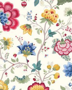 Pip Studio III behang Floral Fantasy White 341030 bij Behangwebshop