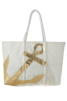 #gold anchor canvas tote http://rstyle.me/n/ju999r9te