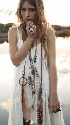 dream catcher necklace with embellishments!