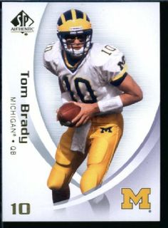 2010 Upper Deck SP Authentic NCAA Football Card # 94 Tom Brady - Wolverines (New England Patriots) NFL Football Trading Card in Protective Screwdown Case! - http://nfledge.net/2010-upper-deck-sp-authentic-ncaa-football-card-94-tom-brady-wolverines-new-england-patriots-nfl-football-trading-card-in-protective-screwdown-case/ - 2010 Upper Deck SP Authentic NCAA Football Card # 94 Tom Brady – Wolverines (New England Patriots) NFL Football Trading Card in Protective Screwdow