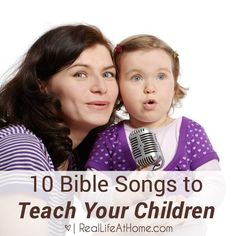 Want to entertain your children while you teach them faith? I have a long list of favorites, but here are 10 Bible songs for children to get you started. Childrens Bible Songs, Bible Songs For Kids, Songs For Toddlers, Bible Stories For Kids, Children's Church Songs, Choir Songs, Sunday School Songs, Toddler Sunday School, Preschool Bible