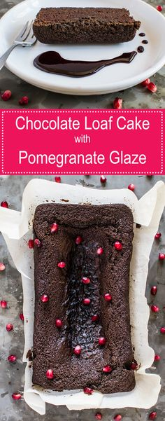 Looking for some desserts recipes that will take your desserts game to a new level?  Try this rich chocolate cake served with a pomegranate glaze!
