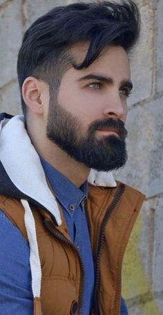 14 Reasons Why The Medium Beard Style Is All The Funk! - - These 14 jaw dropping medium beard styles are not only easy to master but also a bit more impactful than your aggressive beast beards! Mens Hairstyles With Beard, Cool Hairstyles For Men, Boy Hairstyles, Haircuts For Men, Medium Haircuts, Hairstyle For Man, 1960s Hairstyles, Pompadour Hairstyle, Layered Hairstyles