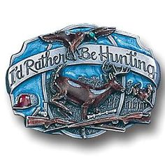 Hunter Belt Buckle - If dad is a hunter, this would make a great gift idea for Fathers Day.