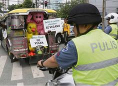 Cops stop animal rights activists in their tracks  Read more: http://newsinfo.inquirer.net/740824/cops-stop-animal-rights-activists-in-their-tracks#ixzz3s4JWOHcP  Follow us: @inquirerdotnet on Twitter | inquirerdotnet on Facebook